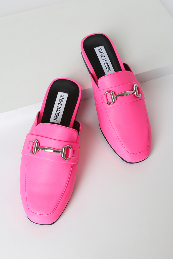 Kori Neon Pink Loafer Slides! - Trendy Cute Shoes