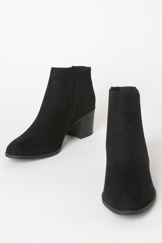 Shasta Black Suede Ankle Booties