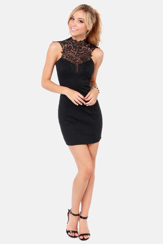 Beautiful Black Dress - Lace Dress - BodyCon Dress - $46.00