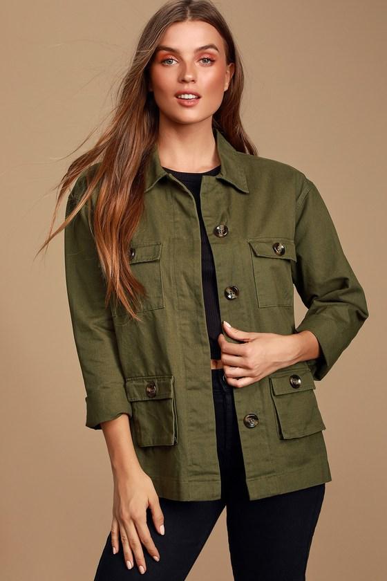 Brookhollow Olive Green Utility Jacket - Lulus