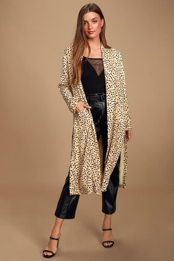 Arianne Cream and Black Cheetah Print Duster - Lulus