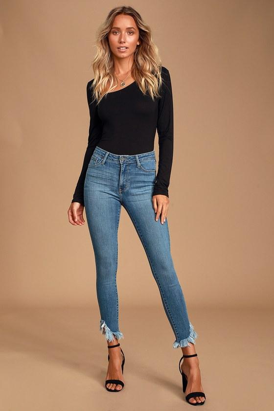 "Fragile Blue Skinny Cropped Jeans Waist 30/"" Leg 25/"" Faded Dark Blue Ladies Jeans"