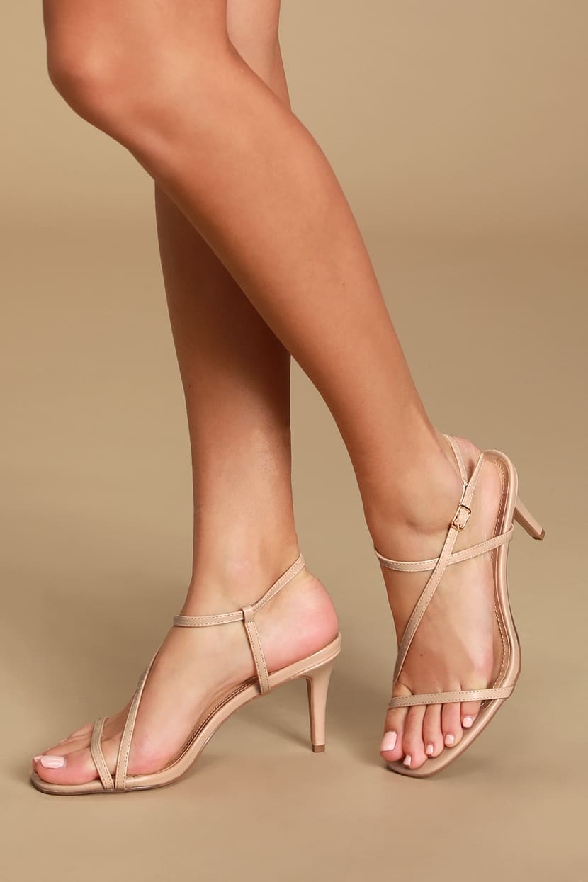 Nude Strappy High Heels