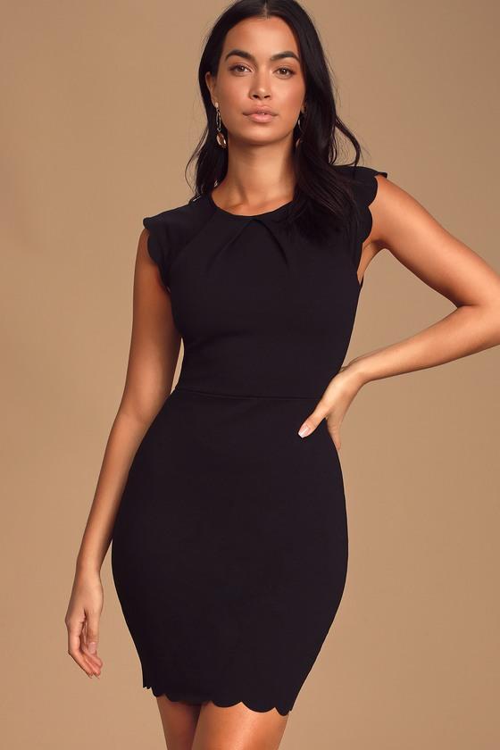 Black asymmetric dress UM-084-VL loose dress open back dress long dress short sleeved dress black dress by UrbanMood