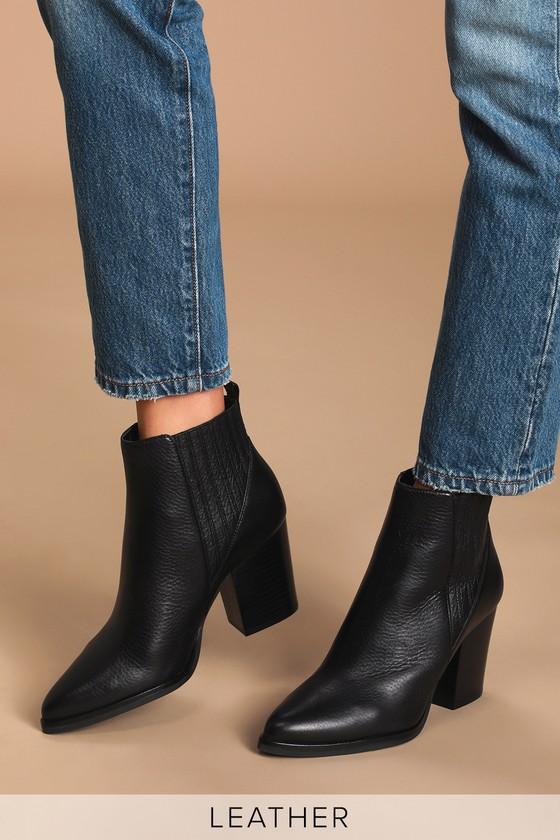 Marc Fisher Alva - Black Leather Boots
