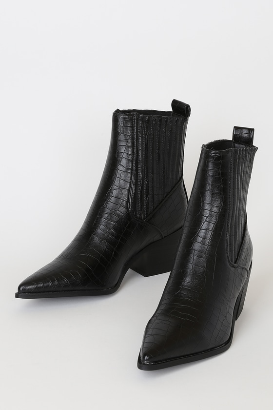 Raid Rocco Black Crocodile Boots