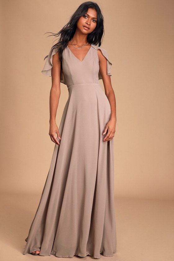 1930s Evening Dresses | Old Hollywood Dress Kadence Dusty Lavender Chiffon Maxi Dress - Lulus $34.00 AT vintagedancer.com