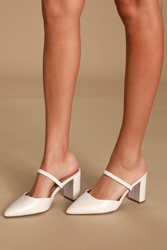 Lulus Maryna - Off White Heels
