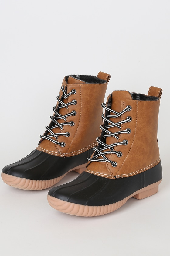Upton Tan Duck High Heel Boots