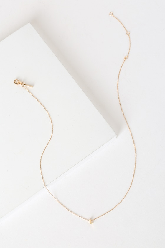 Letter Ly In Love L Gold Initial Charm Necklace