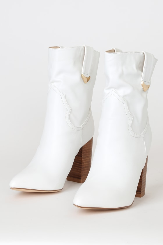 price remains stable great look promo code Taryne White Pointed-Toe Ankle Booties