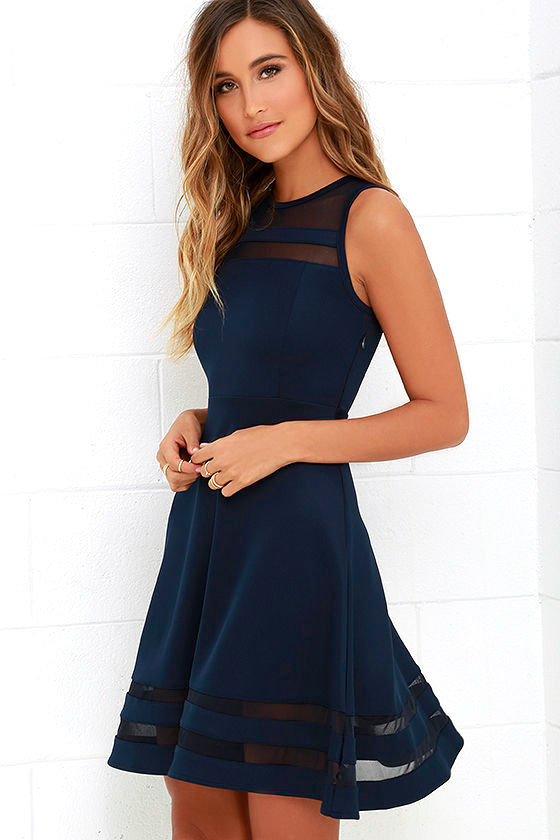 Final Stretch Navy Blue Dress 1