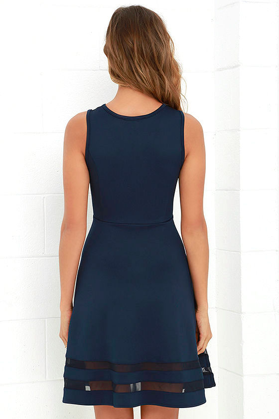 Final Stretch Navy Blue Dress at Lulus.com!