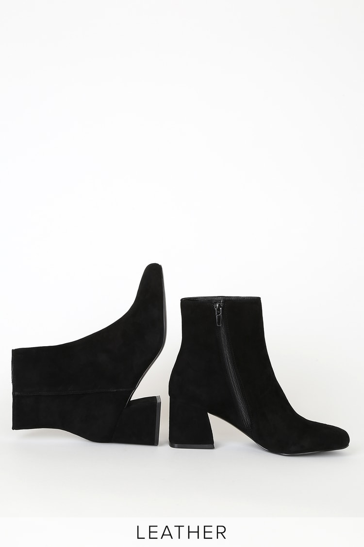 humedad Golpe fuerte calibre  Steve Madden Davist - Genuine Suede Leather Booties - Ankle Boots - Lulus