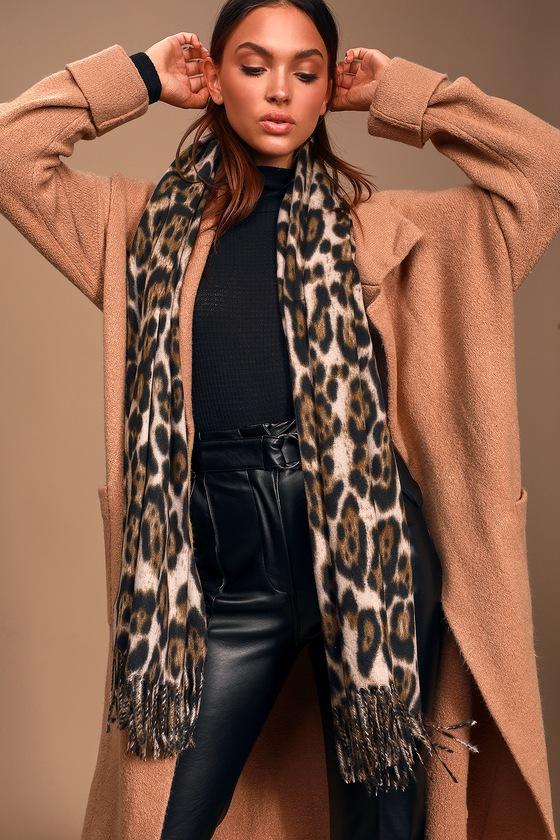 Edi Leopard Print Oversized Scarf