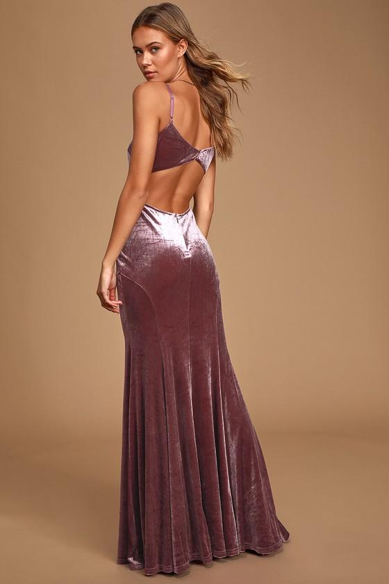1930s Evening Dresses | Old Hollywood Dress Timeless Love Dusty Purple Velvet Mermaid Maxi Dress - Lulus $82.00 AT vintagedancer.com