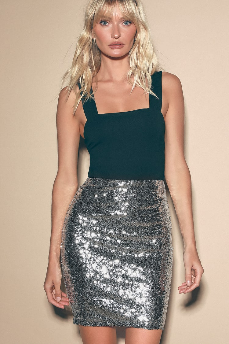 Mini skirts from90 Cute Silver Skirt Sequin Skirt Mini Skirt Sequin Mini Skirt Lulus