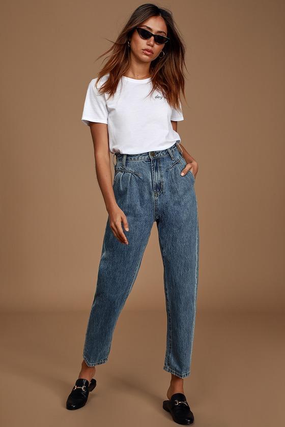 One Teaspoon Streetwalkers Medium Wash High-Rise Jeans