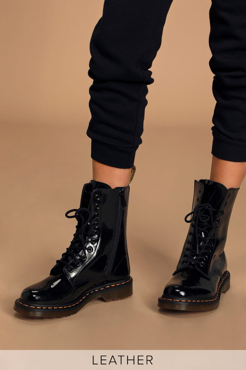 Commerce caress effect  Dr. Martens 1490 Patent Lamper - Genuine Leather Boots - Boots - Lulus