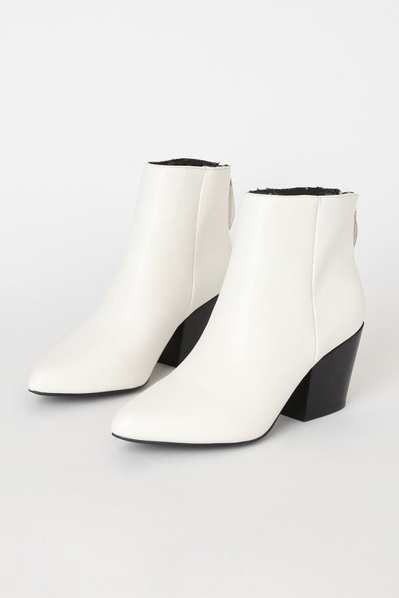 Vegan Leather Ankle Boots