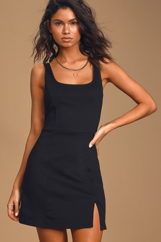 Always Admired Black Sleeveless Mini Dress