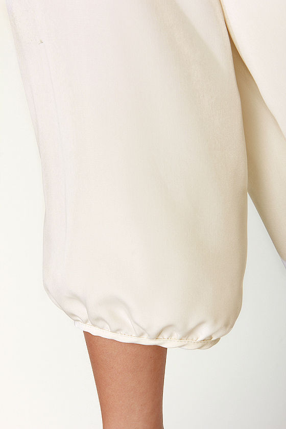 C'mon Get Happy One Shoulder Ivory Dress at Lulus.com!
