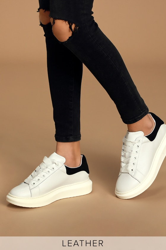 White Sneakers - Platform Shoes