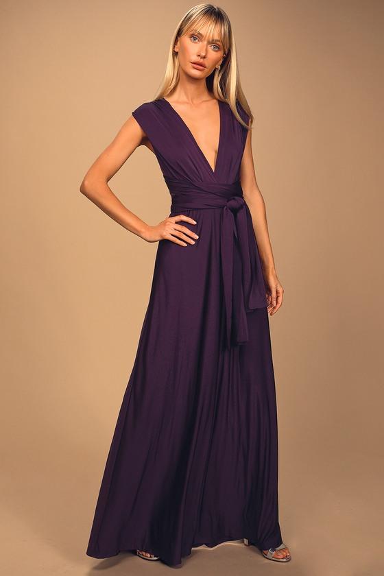 purple maxi dress