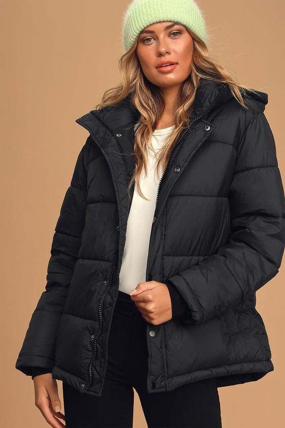Winning Style Black Puffer Jacket