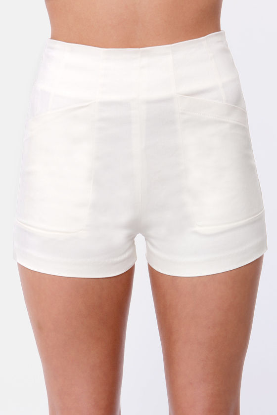 Morning Java Ivory High-Waisted Shorts at Lulus.com!