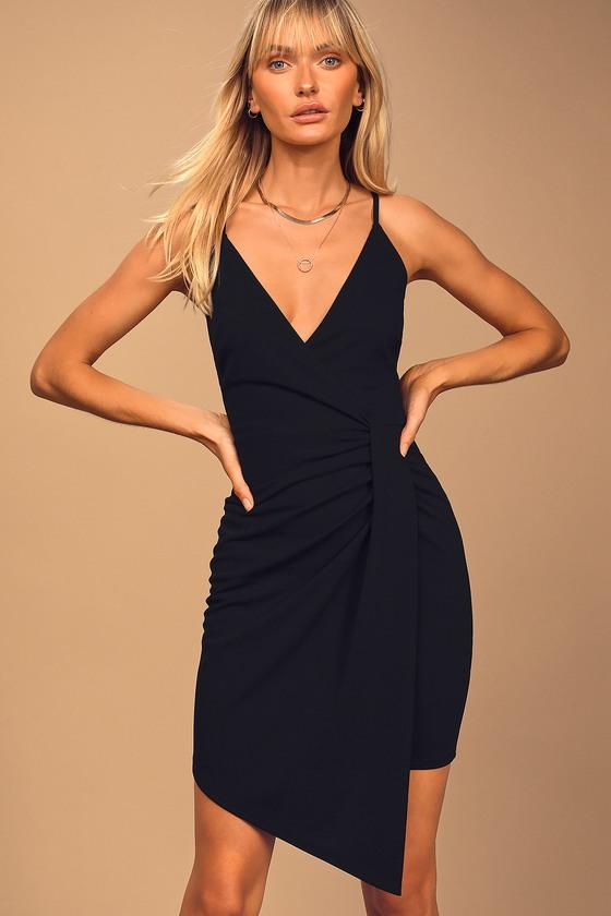 Best Behavior Black Sleeveless Bodycon Mini Dress