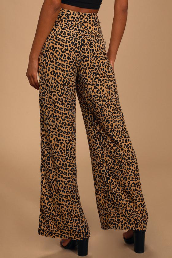 Leopard Wide Leg Pant S-2XL Details about  /Woman Tracksuit Letter Printed Long Sleeve T-shirt