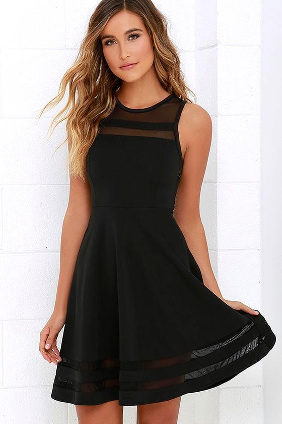 unique black mesh dress black homecoming dress. Black Bedroom Furniture Sets. Home Design Ideas