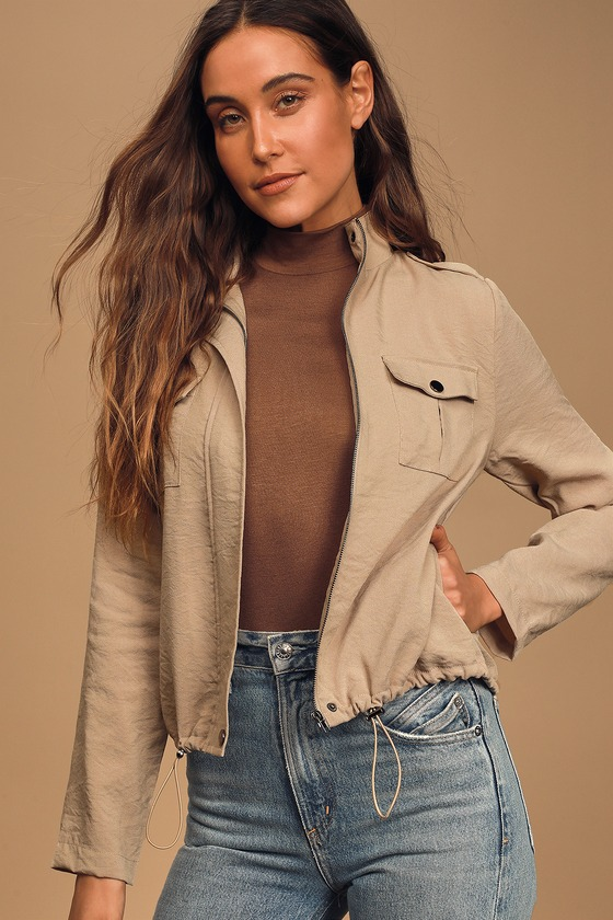 Sage The Label Nothing But Everything Taupe Jacket