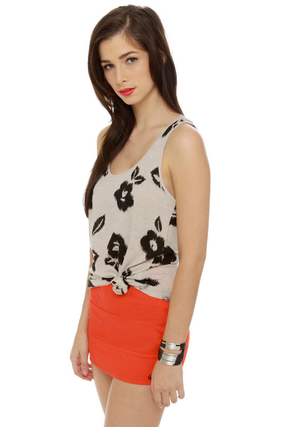 Obey Floral Ikat Print Tank Top at Lulus.com!
