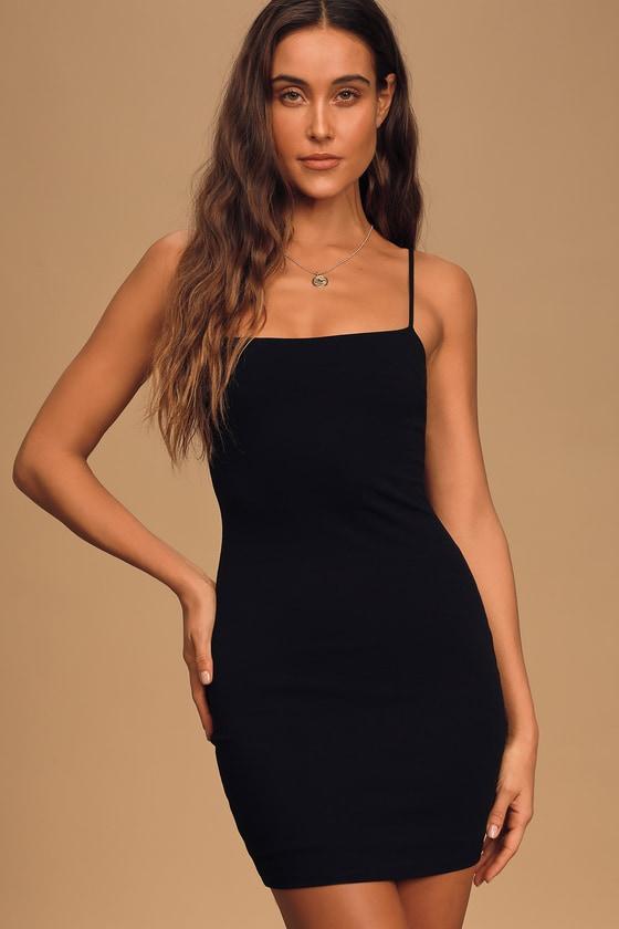 short skinny bodycon dress little black dress