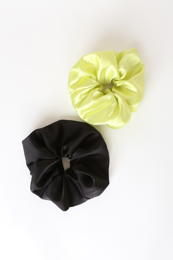 Satin Scrunchies forest green color,Satin ponytail holder,Green hair tie,Satin scrunchies large,Ponytail holder,Satin hair scrunchies