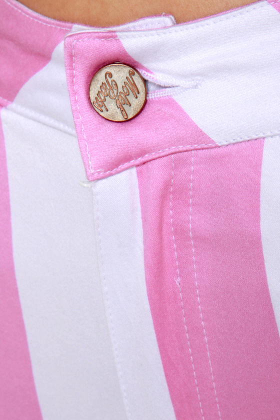 Motel Jordan Pink Striped Skinny Jeans at Lulus.com!