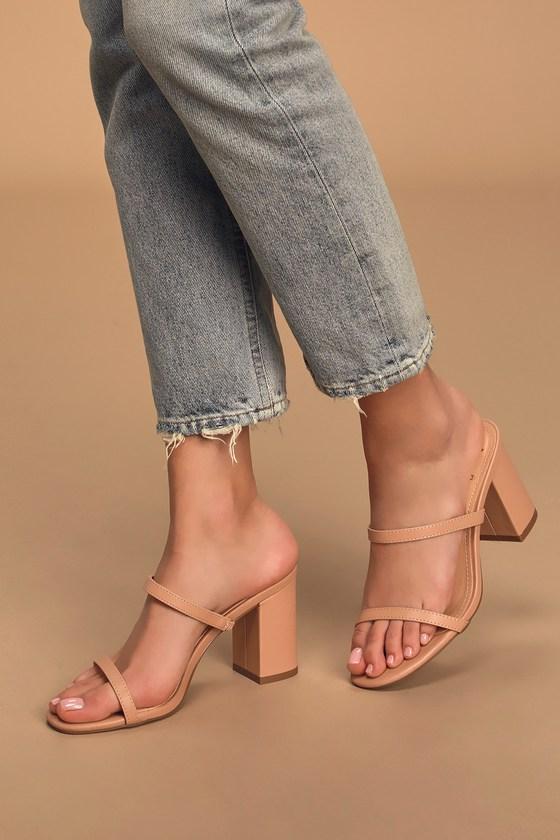 Ariellie Nude High Heel Sandals