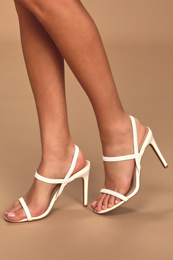 Sexy White Heels - Strappy Heels