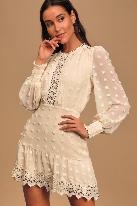 white cream engagement photo dress short white dress for engagement photos long sleeve
