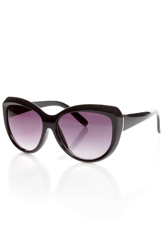 Sunday Funday Black Sunglasses