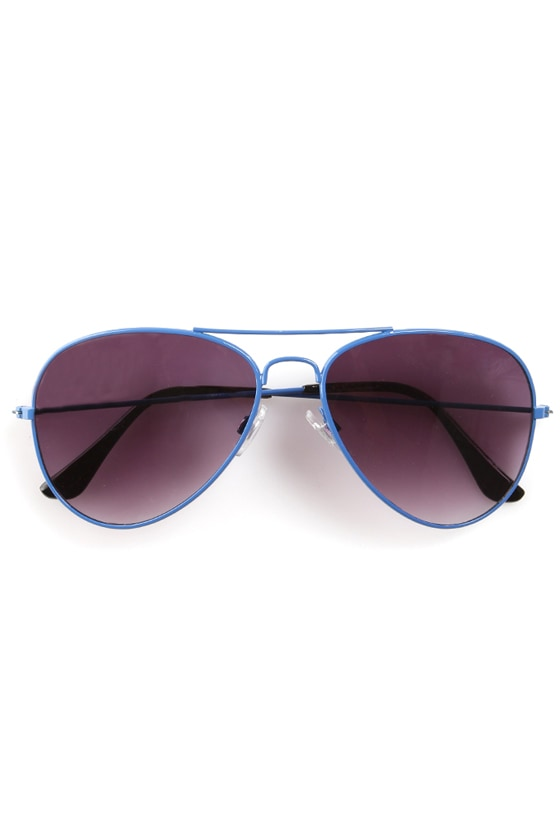 Lantern Blue Aviator Sunglasses
