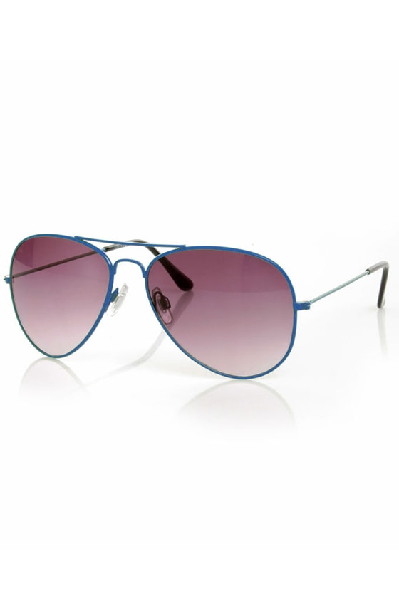 Lantern Blue Aviator Sunglasses