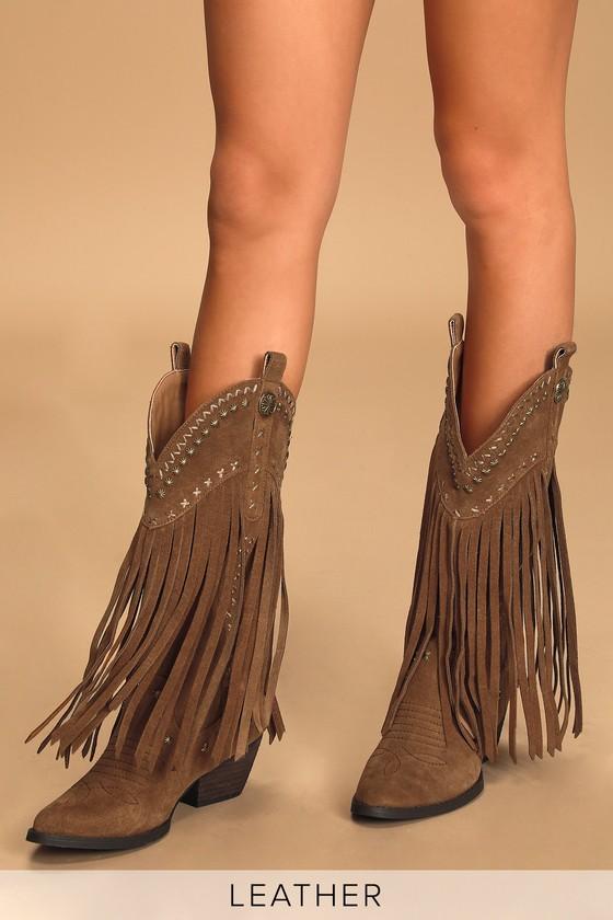 Very Volatile Barrow - Tan Cowboy Boots