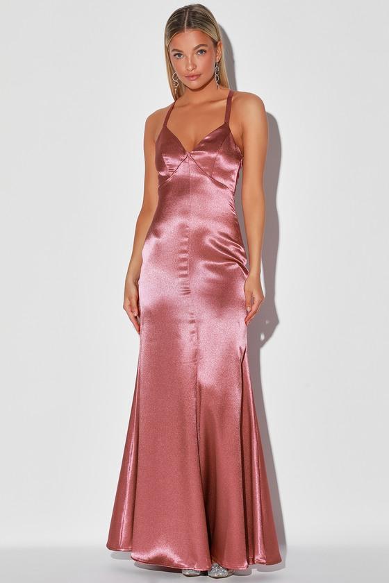 Vintage Evening Dresses and Formal Evening Gowns Troublemaker Rose Pink Sleeveless Mermaid Maxi Dress - Lulus $79.00 AT vintagedancer.com