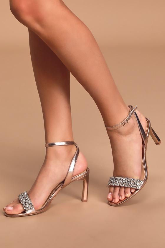 Jewel by Badgley Mischka Baltimore - Rose Gold Heels - High Heels