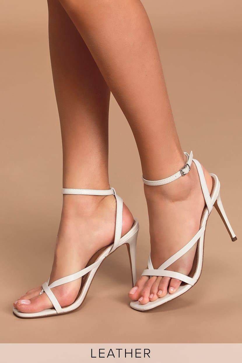 White Sandals High Heels