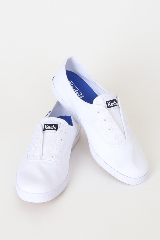 Keds Chillax - White Canvas Sneakers