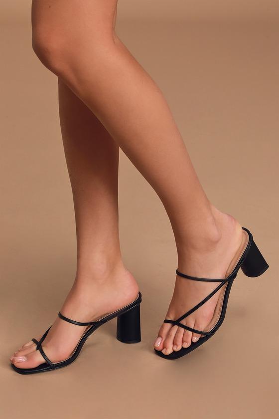 RAID Brioni - Black Heels - Strappy